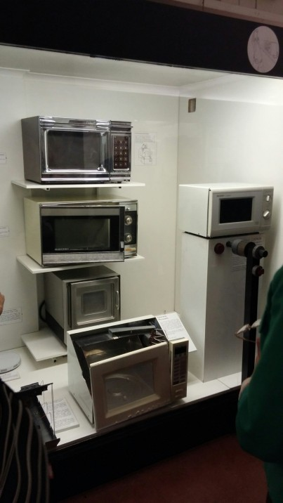 the microwave oven showcase in the Science museum