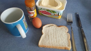 ingredients needed, egg, bread, butter
