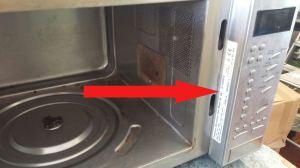 Panasonic microwave identification plate